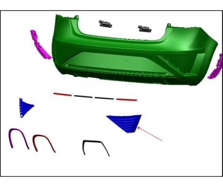 Ensemble grilles latérales (gauche + droite)