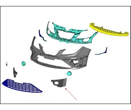 Ensemble grilles latérales antibrouillards (gche+drte)