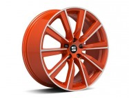 "Jante alu 19"" Cup-Racer diamantée orange"