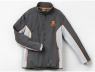 Vestes softshell Gris atome / Orange cup racer