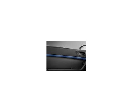 Décoration portes bleu Connect avec éclairage