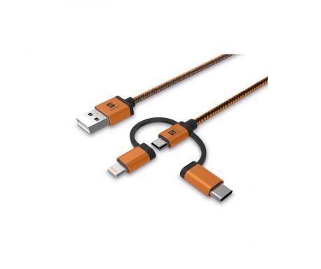 Câble 3 en 1 charge et données (Apple)