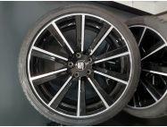 "Lot 4 Jantes alu 19"" CUP RACER diamantée noir + 4 pneus offert Bridgestone"