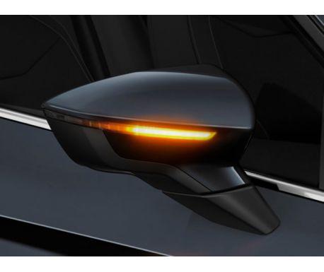Clignotants des rétro extérieurs LED dynamiques (sombre) LEON III